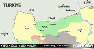 suriye'de son durum harita kasım 2016