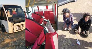 minibüs zulasından çıkan PKK'lı kadınlar