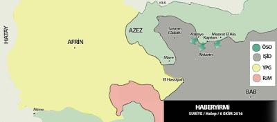 Suriye harita son durum
