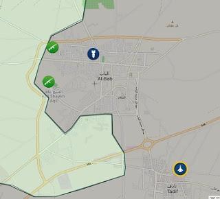 El bab Son durum harita: 12 Aralık 2016