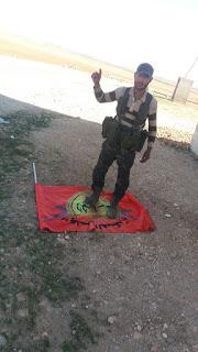 ÖSO, güçleri Menbiç batısında YPG'nin SDF bayrağıyla...