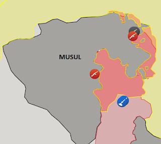 Musul son durum harita: (2 Kasım 2016) 19.06