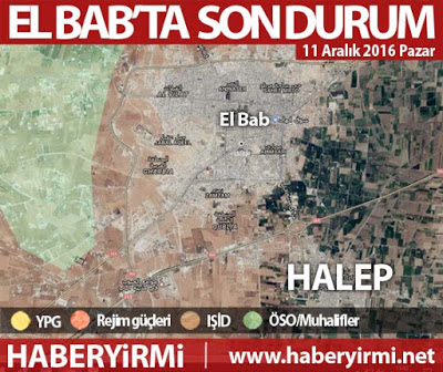 El Bab son durum harita (11 Aralık)