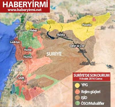 Suriye son durum haritası
