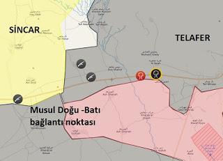 Musul'da son durum harita
