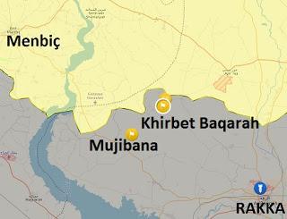 Suriye Rakka son durum harita (14 Aralık)