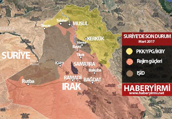 Irak son durum harita Mart 2017