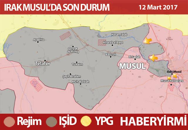 Irak haritası son durum harita