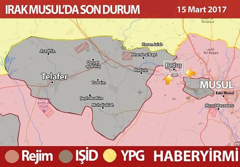 Irak Musul son durum harita: