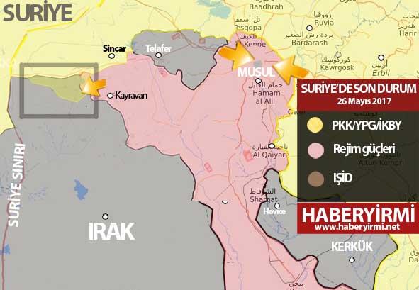 Irak son durum harita 26 Mayıs 2017