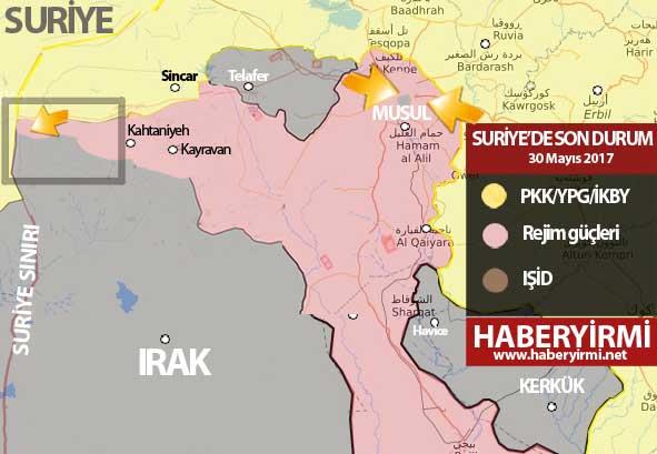 Irak'ta son durum haritası / 30 Mayıs 2017