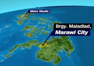 Filipinler'n, Mindanao eyaletine bağlı Marawi kenti.