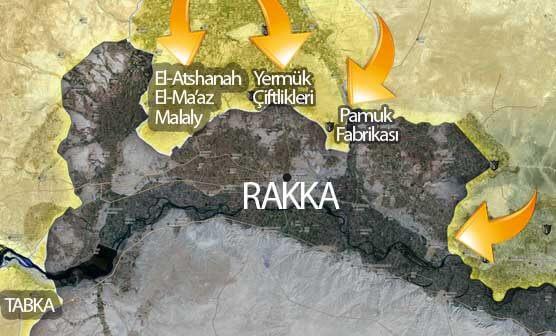 Rakka son durum harita Mayıs 2017