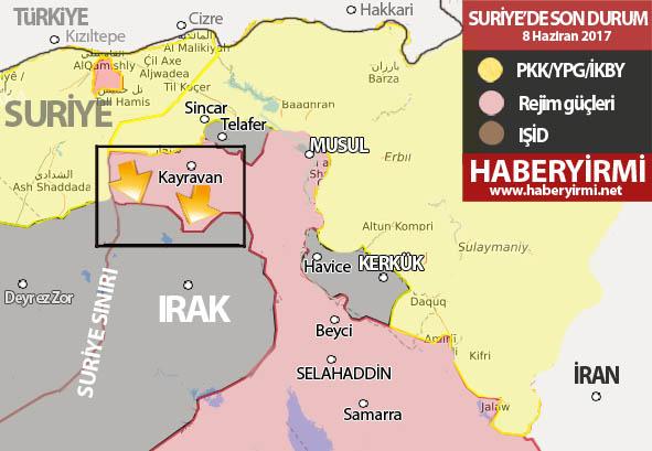 Irak son durum harita -Musul son durnum
