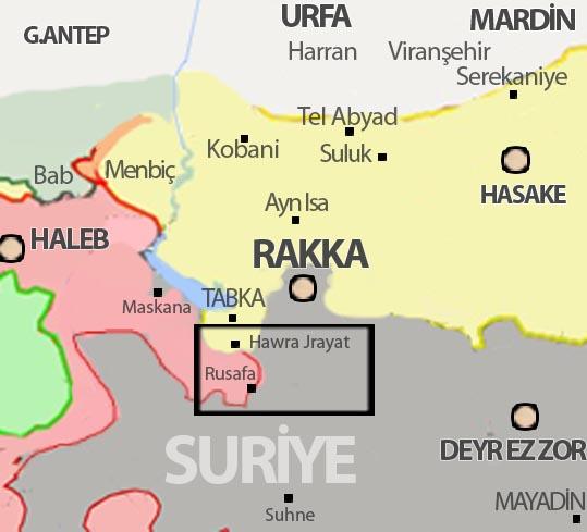 Suriye son durum harita 19 Haziran 2017