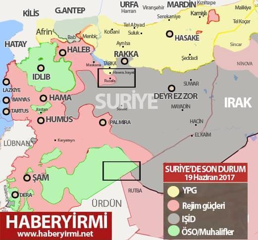 Suriye son durum 19 Haziran 2017