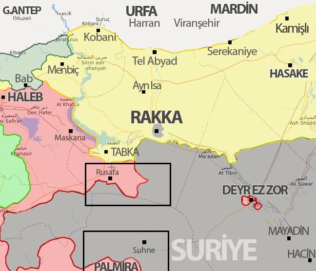Suriye son durum harita 16 Temuz 2017