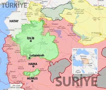 Hama vilayetine bağlı Lataminah ilçesi