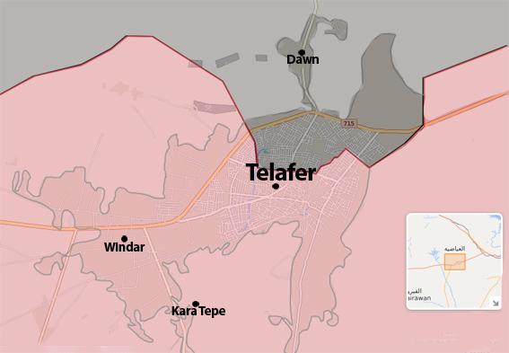 Telafer son durum harita 217 ağustos 2017