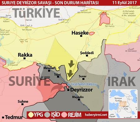 Deyrizor son durum harita eylül 2017