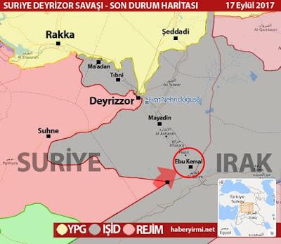 Deyrizor kentinde son durum: 17 Eylül 2017 haritası