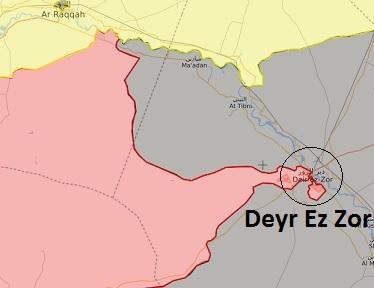 Deyr Ez Zor son durum harita 5 Eylül 2017 Saat: 14:04