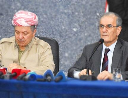 IKBY Başkanı Mesut Barazi, Irak Kerkük Valisi Necmettin Kerim