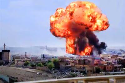 Rejim güçleri 2017 Ocak ve Eylül aylarında 8 bin 500 varil bombası kullandı. Arşiv foto