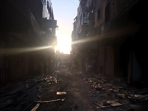 Rakka sokaklarındaki yıkım: Quentin Sommerville