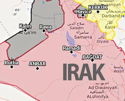 Irak Ramadi Anbar haritası 27 eylül 2017