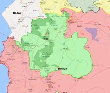 İdlib haritası 7 Ekim 2017