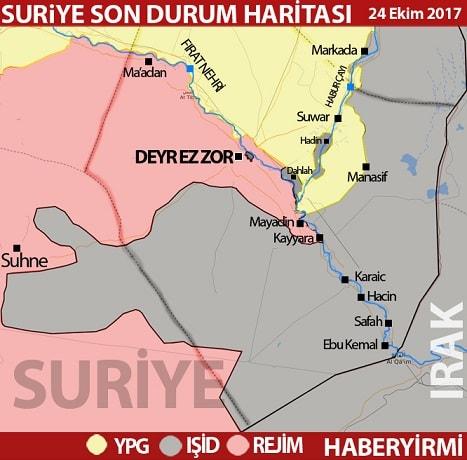 Deyr Ez Zor Son Durum Harita 24 Ekim 2017