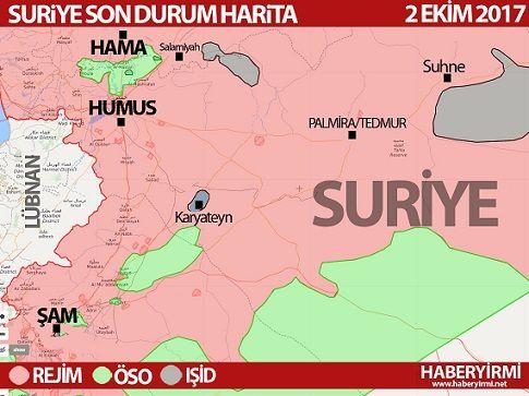 Suriyede son durum harita