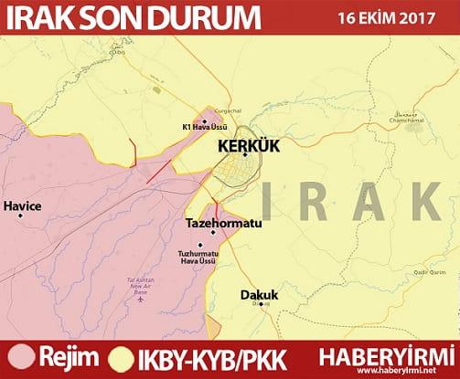 Kerkük son durum haritası: