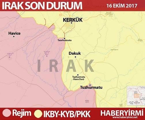 Kerkük kent geneli harita 16 Ekim 2017