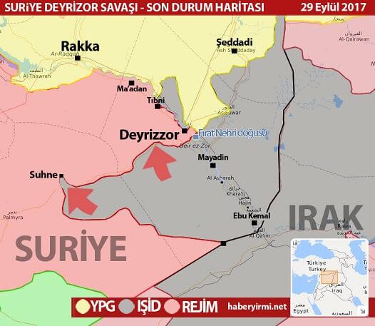 Suriye harita IŞİD 29.09.2017