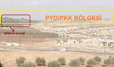 Afrin'in Dayr Sim'an-Seman tepesi- haritada Dar Ta İzzah