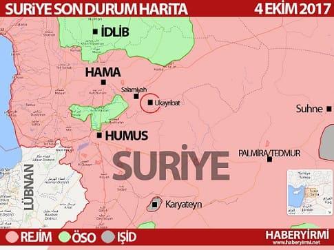 Suriye son durum harita ekim 2017