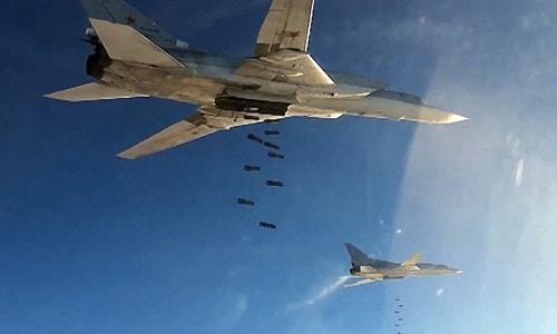 Uzun menzilli Rus Tu-22 bombardıman uçakları Fırat'ın batı kıyısındaki IŞİD mevzilerini bombaladı