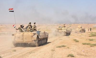 Irak askeri birliklerinin Fırat Nehri'ni geçerek Rummana Nahiyesi'ni IŞİD'den geri aldığı belirtildi.