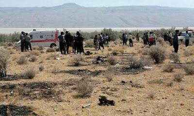 Uçağın Serustan kentinden 15 kilometre uzaklıkta düştüğü kaydedildi.