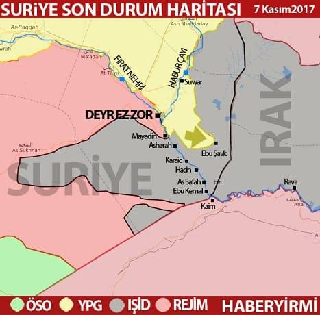 Deyrizor son durum harita 7 Kasım 2017