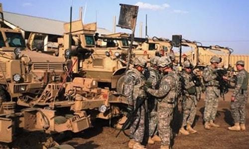 Peşmerge'ye lojistik destek sağlamaya devam eden ABD son olarak 40 zırhlı araç gönderdi.