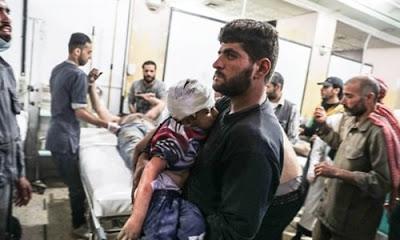 Rejime bağlı Suriye Savaş uçakları Doğu Gota'da yine bomba yağdırdı. Yapılan saldırılarda 6'sı çocuk olmak üzere 19 kişi hayatını kaybetti.