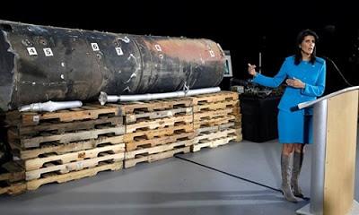 Füze parçalarını kanıt gösteren ABD, İran'ı hedef aldı.