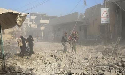 Doğu Guta bölgesinde rejim güçleri tarafından düzenlenen saldırılarda 44 sivil hayatını kaybetti.