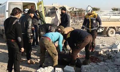 İdlib'de Rus savaş uçaklarının düzenlediği hava saldırısında 11 kişi öldü.