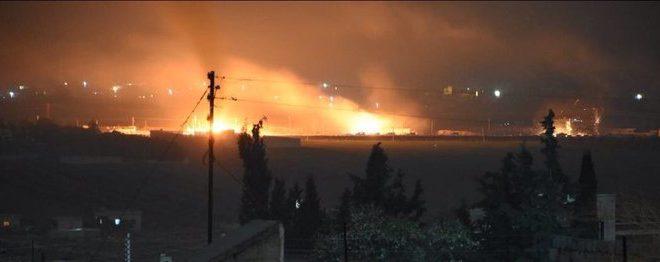 Afrin'e girmek isterken vurulan konvoy.