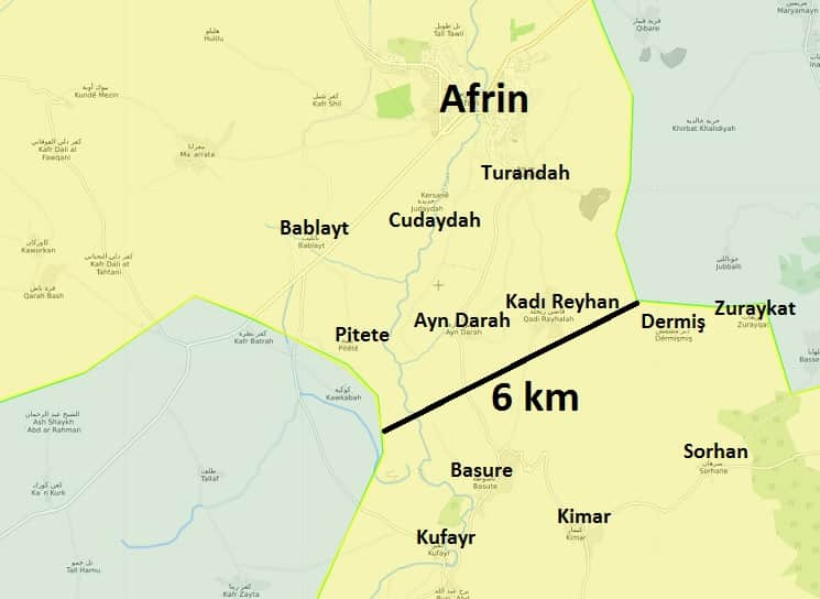 Afrin koridoru 13 Mart 2018